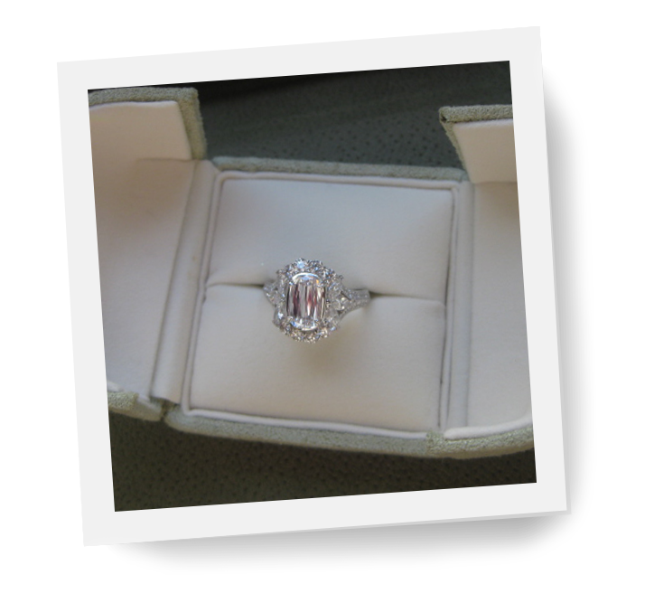 Diamond ring in gift box