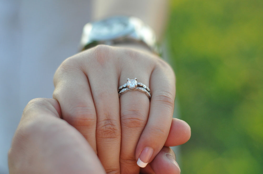 Engagement Ring on Woman's Finger
