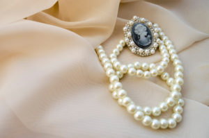 Pearl necklace as part of heirloom jewelry