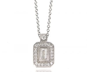 Simon G. diamond pendant